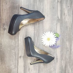 Shi By Journeys Gold Zipper Heels